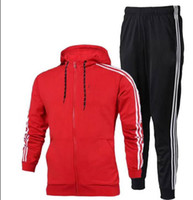 Wholesale mens hooded cardigans - Luxury Designer Tracksuit Autumn Jogger Sport Casual Unisex Sportswear AD Brand Track Suits Higt Quality Hoodies Mens Clothing S-3XL