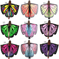 Wholesale butterfly robes - Multi-style 135*168cm Robes big girls cloak Bohemia Printed Beach Towels cartoon Butterfly Design Beach Shawl Yoga Mat 31 colors cape C4058
