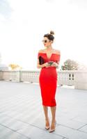 einfache kleider für den abschluss großhandel-2018 New Red Tea Länge Mantel Cocktailkleider Schulterfrei Einfache Günstige Kurze Ballkleider Homecoming Kleider Graduation Gowns Custom