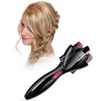 máquina trenzadora al por mayor-Nuevo Automático Hair Braider Styling Tools Smart Quick Fácil DIY Electric dos hilos Twist Braid Maker Hair Braider Machine