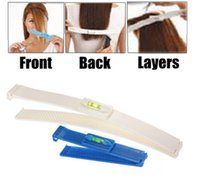 Wholesale hair cut clips - 2 In 1 Hair Cutting Kit Clip Trim Bang Cut DIY Home Trimmer Clipper Styling Tool