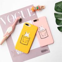 ingrosso yellow iphone covers-Custodia rigida per iPhone7 plus, rosa e giallo per iPhone6 / 6S plus