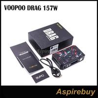 Wholesale pwm module - Voopoo Drag 157W Box Mod Resin Black Frame Edition Fastest Fire Speed Powerful PWM and MOS Module TC Box MOD Power by 2 18650 100% Original
