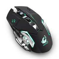 Wholesale 2018 New Rechargeable X8 Wireless Silent LED Backlit USB Optical Ergonomic Gaming Mouse Quality Mouse for PC