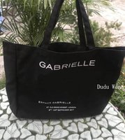 seyahat için büyük poşetler toptan satış-Yeni Büyük boy Ünlü moda C Canvan Alışveriş çantası Lüks plaj çantası Seyahat tote Kadınlar Yıkama Çanta Kozmetik Makyaj Saklama Kutusu