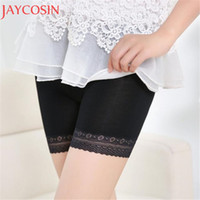 Wholesale white lingerie skirt - Women Comfortable Lingerie Safety Short Pants 2017 New Summer Seamless Shorts Under Skirt Lace Underwears Modal Boxers Ma6