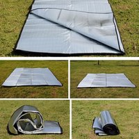 randonnée tapis de couchage achat en gros de-Matelas de couchage en aluminium pour matelas de plage en aluminium imperméable pliable double face Matelas de couchage pour camping NOUVEAU