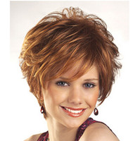 Wholesale white blonde short synthetic wigs - Z&F Blonde Curly Wigs For White Women Synthetic Curly Wigs for Elder Women African American Short Hair
