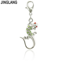Wholesale animal jewelry connectors for sale - Group buy JINGLANG Vintage Alloy Metal Medieval Gecko Charm Connector Bracelet Necklace Jewelry Findings