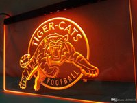 Wholesale neon football signs - LD416- Tiger-Cats-Football LED Neon Light Sign