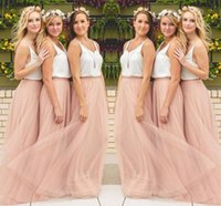 Wholesale Tulle Skirt Long Bridesmaid - Hot Sale Cheap Underskirt Bridesmaid Dresses Tulle Skirt Blush Prom Dresses Bridesmaid Maxi Skirt Evening Party Gowns HY249