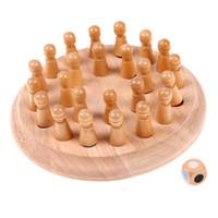 çocuklar sopa blokları toptan satış-Ahşap Eğitim Blok Oyuncaklar Ahşap Sopa Satranç Oyunu Oyuncak Çocuk Bellek Maç Eğitim Chrismas Hediye Istihbarat Geliştirme