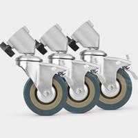 ingrosso il boom sta alla fotografia-3PCS 22mm Fotografia Heavy Duty Universal Caster Wheel Per Light StandsStudio Boom Photo Studio Accessori
