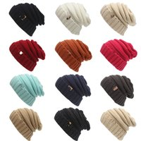 Wholesale kid crochet hat for sale - Unisex Kids Brand Knitted Boys and Girls Winter Wool knit Beanie Label Caps Children Warm Skull Crochet Caps Multicolors Free Ship