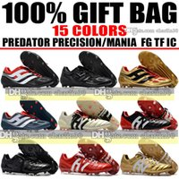 Wholesale Precision Lights - 2018 Firm Ground Predator Mania Champagne FG Soccer Boots Outdoor Indoor Predator Precision FG IC TF Soccer Cleats Turf Football Shoes Boots