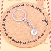 Wholesale Balloon Cars - Keychain hot air balloon Pendants DIY Men Jewelry Car Key Chain Ring Holder Souvenir For Gift