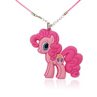 Wholesale Retail Cute Horses High Quality Cartoon Soft PVC Pendant cm Necklace Rope Chain Choker Necklace Kids Gifts Party Favors Jewelry
