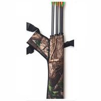 ingrosso fiocco di caccia di prua di arco-Nuova borsa caccia mimetica all'aperto tiro con l'arco arco Arrow Holder Pacchetto Tiro con l'arco Quiver Bag Bow Arrow Borse in vendita