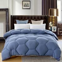 Wholesale solid quilted bedding for sale - 3 kg Autumn Winter Home Hotel Wedding Solid sanding Blending Duvets Adult children bedroom Bedding Comforters Blue Pink Quilt