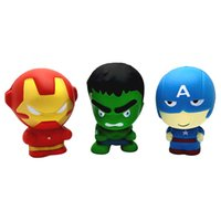 Wholesale toys for kids - The Avengers Squishy CM Iron Man Hulk Captain America Scented Squishies Avenger Super Heroes Squishies Depression Toys For Kids
