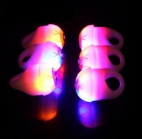 Wholesale toy eyeballs for sale - Group buy Newly Led Light Up Eyeball Eye Flashing finger ring soft Bubble Elastic Ring Rave Party Blinking Soft Finger Lights Xmas Gift