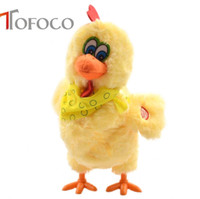 Wholesale Ma Year - TOFOCO 30cm Funny Electric Laying Eggs Hens Chiken Toy Novelty Crazy Singing Dancing Electronic Plush Pets X-mas Gift!