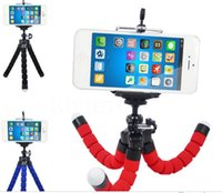 Wholesale universal cell phone tripod - TOP Flexible Octopus Tripod Phone Holder Universal Stand Bracket For Cell Phone Car Camera Selfie Monopod with Bluetooth Remote Shutter