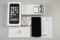 renovierte mobiltelefone wifi großhandel-Refurbished Apple iPhone 5S entsperrt iPhone i5S Handy Dual-Core-iOS 11 64G mit Touch ID 3G WCDMA Bluetooth WIFI Handy