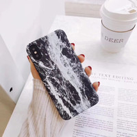 Wholesale custom paint design - Hot Custom Design Cactus Brush Painting Hard PC Plastic Back Case Coque Cover For Apple IPhone X 8 7 6s 6 Plus Illustration Marble Contrast