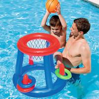 aufblasbare kinderschwimmbäder großhandel-Wasser Basketballkorb Pool Float Aufblasbare Spielen Spiel Schwimmbad Spielzeug Wassersport Spielzeug Schwimmspielzeug für Kinder Kinder Neu