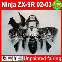carrinhos zx9r venda por atacado-Kit de Carenagem Completa sem Pintura Para KAWASAKI NINJA ZX 9 R ZX9R 00 01 02 03 900CC 40NO0 ZX 9R ZX900 ZX900C ZX-9R 2000 2001 2002 2003 Kit de Carenagem