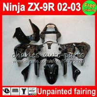 zx9r volle verkleidungen großhandel-Unlackierter Vollverkleidungssatz für KAWASAKI NINJA ZX 9 R ZX9R 00 01 02 03 900CC 40NO0 ZX 9R ZX900 ZX900C ZX-9R 2000 2001 2002 2003 Verkleidungssatz