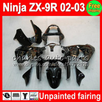 Wholesale zx9r full fairing kit - Unpainted Full Fairing Kit For KAWASAKI NINJA ZX 9 R ZX9R 00 01 02 03 900CC 40NO0 ZX 9R ZX900 ZX900C ZX-9R 2000 2001 2002 2003 Fairing kit