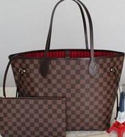 Wholesale leather fur purse online - Women handbag handbag ladies designer designer handbag high quality lady clutch purse retro shoulder bag