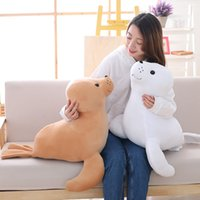 Wholesale lion stuff toy resale online - pop cute sea animal sea lion plush toy big stuffed gentle cartoon seal doll pillow for baby gift decoration inch cm DY61285