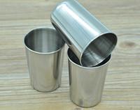 paslanmaz çelik çıkışlar toptan satış-180ml paslanmaz çelik bardak bira bardağı içecek kola suyu bardağı fabrika çıkış