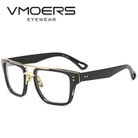 Wholesale fake glasses frames - VMOERS Aviator Square Eyewear Frames Luxury Style Myopia Optical Eye Glasses Frame For Men Clear Lens Fake Eyeglass Frames Male