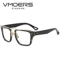 armações ópticas para machos venda por atacado-VMOERS Praça Óculos Frames Estilo Luxo Miopia ópticos Eye Glasses Quadro Para Homens Limpar Lens Falso Quadros de óculos masculino