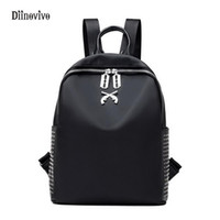 Wholesale backpack rock for sale - Group buy DIINOVIVO Large Capacity Casual Women School Bags Rock Style Nylon Backpack Youth Casual Waterproof Travel Bag Knapsack WHDV0111