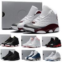 best service c4728 5a303 Nike air jordan 13 retro enfants baskets 13 chaussures de basket 2018 pour  garçons filles noir rouge blanc noir rose pas cher XIII soldes haute  qualité US ...