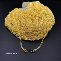 Wholesale vietnam gold chain necklace resale online - 50 Plating Vietnam sand Gold Necklaces Cheap chains Safety without stimulation Shining Imitation gold Platinum Necklaces Small gift