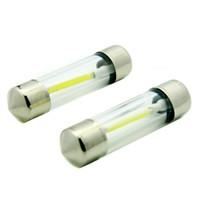 büyük led ampuller toptan satış-100 adet / grup Büyük Satış C5W LED 1 LEDS COB Tüp Çip Festoon 31/36 / 39mm LED Küçük Ampul Araba Kapı Plaka Işıkları