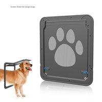 perro imán al por mayor-2018 Nueva Mascota Suministros Paw Shape Auto-cerrar Large Doggie Dogs Gato Ventana Screen Door Magnet Xlarge Wholesale Free Shipping