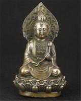 kwan statue großhandel-Chinesische alte Bronze sammelbare Handarbeit Casting Buddha Kwan-Yin Statue