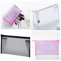 Wholesale make up organizer case resale online - Grid Transparent Cosmetic Bag Women Travel Function Makeup Bag Zipper Make Up Organizer Storage Pouch Toiletry Beauty Wash Case MMA1040