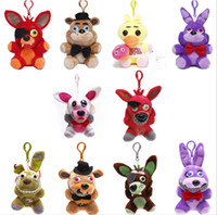 Wholesale hook plush for sale - Group buy 10styles cm Five Nights At Freddys plush dolls Cartoon hook Toys Kids Birthday Party Christmas Gift soft Novelty Items FFA823