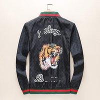 chaquetas de animales de tigre al por mayor-Tiger Designer chaqueta rompevientos de manga larga para hombre chaquetas con capucha ropa cremallera con patrón de letra animal más ropa de talla M-3xl