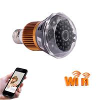 Wholesale Light Bulb Dvr Camera - WIFI 1080P HD Security DVR Super Mini Camera With IR Night Vision Light Bulb Video Recorder Nanny Cam Surveillance Camera