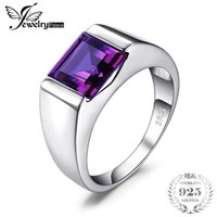 Wholesale alexandrite rings resale online - Jewelrypalace Men s Square ct Created Alexandrite Sapphire Sterling Sliver Ring Vintage Jewelry Party Wedding Accessories