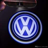 vw pasaport kapısı toptan satış-LED Kapı Logo Projektör Işık VW Passat B6 b7 IÇIN Golf 5 6 7 Jetta MK5 MK6 CC Tiguan Scirocco Ile VW R R hattı logo